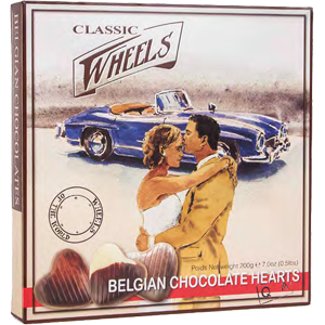 Chocolate hearts 200g Classic wheels