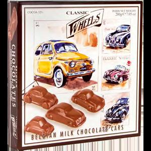 Milk chocolate cars 200g Classic wheels