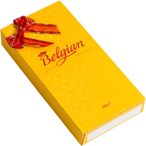 Pralines Creme Brulee with ribbon 100g The Belgian