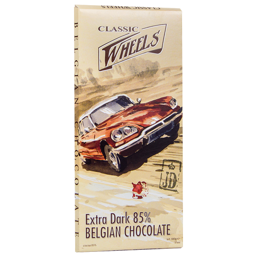 Milk chocolate cars 200g Classic wheels