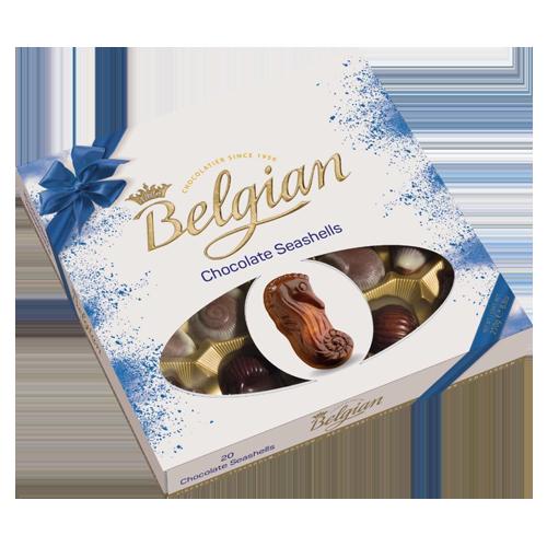 The Belgian chocolate seashells blue 250g