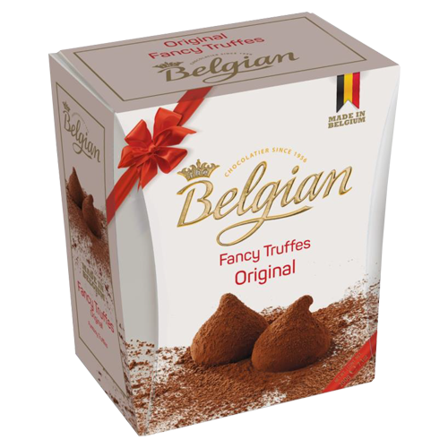 Cocoa dusted truffles original The Belgian 200g