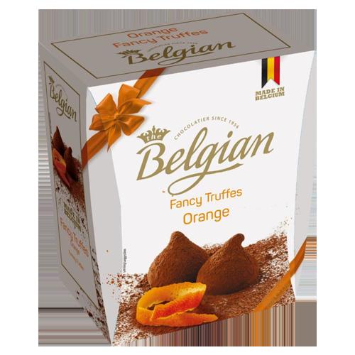 Cocoa dusted truffles Orange The Belgian 200g
