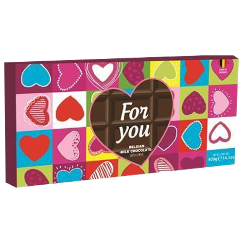 FOR YOU milk chocolate  400g The Belgian