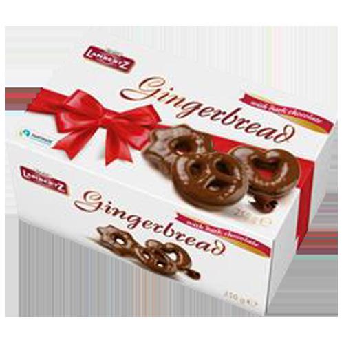 Lambertz Gingerbread Hearts Stars Pretzels  250g