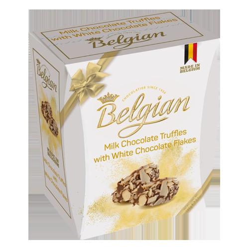 Flake truffles milk with white flakes The Belgian 145g