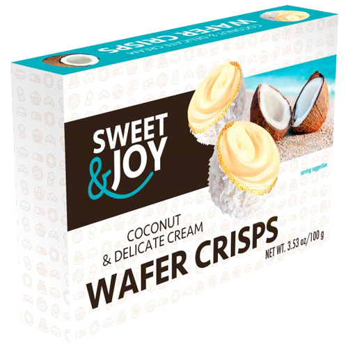 Vafel kuglice sa kokos kremom 100g Sweet&Joy